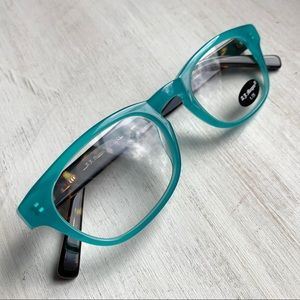 AJ Morgan Aqua Turquoise Tortoise Reading Glasses